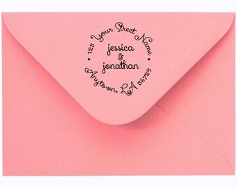 Address stamp self inking - Wedding Gift, Bridal Shower Gift, Realtor Gift, Housewarming Gift, Christmas gift R133