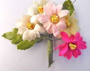 FLORAL BOUTONNIERE JAPANESE, vintage 1950s, wedding, prom, formal event