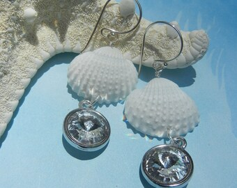 Seashell Earrings - Mermaids Rivoli Crystal Seashell Earrings