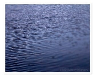 Abstract Water Photography, Charles River, Boston Photograph, Blue Photograph, Riples and Waves, fine art print, river photograph, geometric
