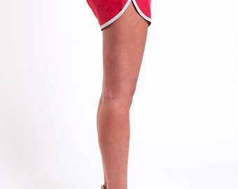 The Red and White Run Shorts