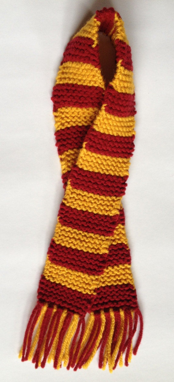 Maroon Amp Gold Gryffindor Scarf For Doll Or Baby