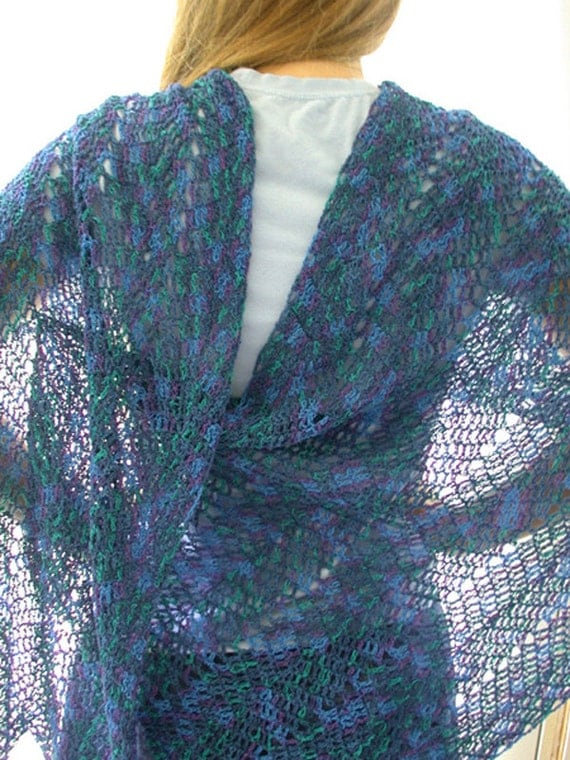 Crochet Pattern Ripple Shawl : Pattern Crochet Ripple Shawl Lace