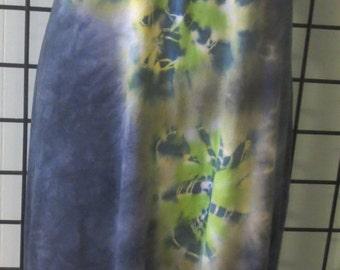 Periwinkle Knit Cotton Tie DyeTank Dress Hi lo Size XL