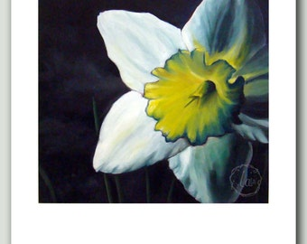 Finally Spring - 8 x 10 print of daffodil oil painting