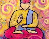 Buddha Peace Gallery Wrap Canvas Art Print