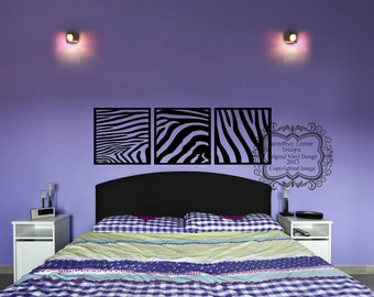 Zebra Blocks Vinyl Decal