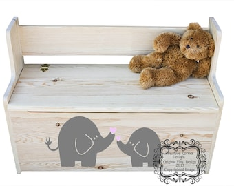 Elephant Mom and Baby Vinyl Decal