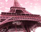 Paris Photography, Eiffel Tower Print, Baby Girl Nursery Decor, Pink Eiffel Tower, Paris Baby Girl's Room Decor, Paris Pink Print Decor Art