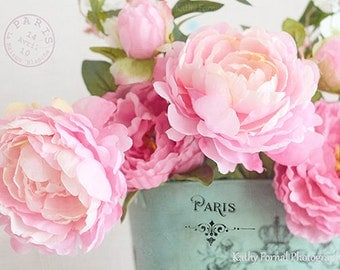 Pink Peonies Photography, Dreamy Pink Peonies Floral Print, Paris Peonies, Paris Peonies, Peony Flower Photography, Romantic Peonies Photos
