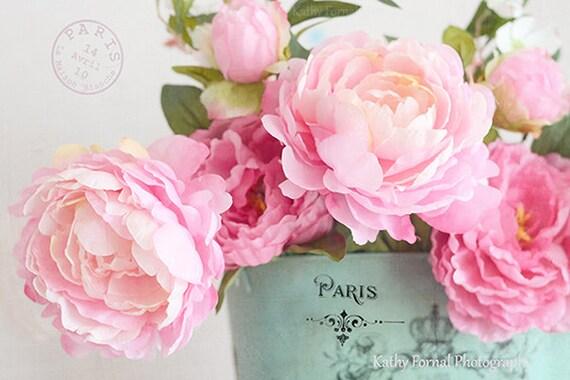 dreamy pink peonies floral print paris peonies peony prints peony