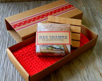 Man Soap Cloth Deck Gift Pack -Great for dad, grandpa, son / Mens Gift Set
