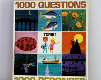 Alain Gree 1000 Questions 1000 Réponses tome 1 - Vintage French children book