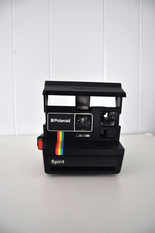 polaroid spirit camera black rainbow design uses 600 film. Black Bedroom Furniture Sets. Home Design Ideas
