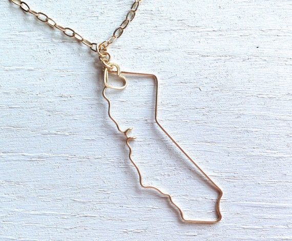 california necklace california state necklace state