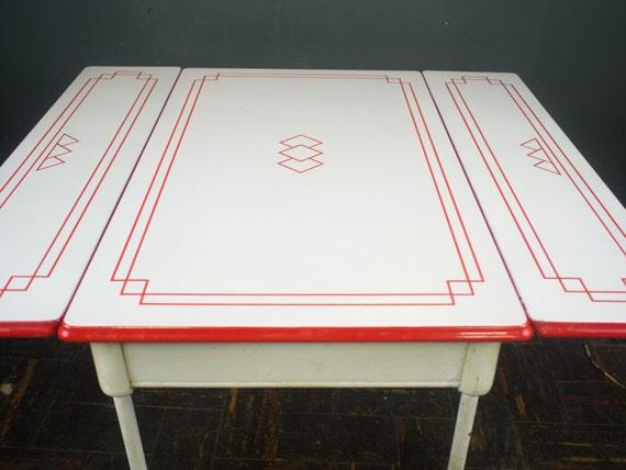 1920s Dining Table Porcelain Enamel Kitchen Table