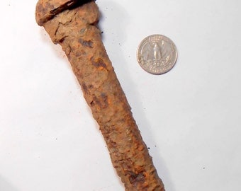 Large Rusty Railroad Bolt