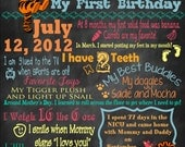 First Birthday Poster - Winnie the Pooh/Tigger Theme