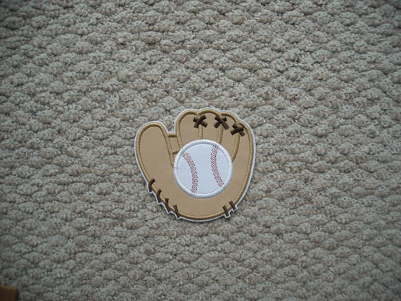 baseball glove machine embroidery iron on applique. Black Bedroom Furniture Sets. Home Design Ideas