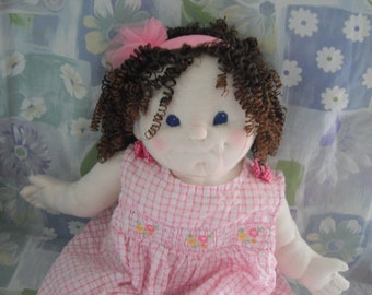 Curly Jo, soft sculptured baby doll, life size