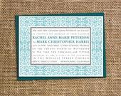 Antique Frame, printable wedding invitation, RSVP, Save the Date
