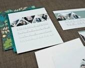 Triangle Photos, a printable wedding invitation
