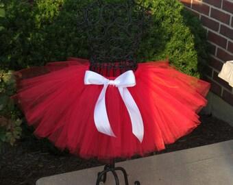 Valentines Day tutu -RED VELVET-  Girls red tutu - Baby red tutu- Valentine's tutu- Baby girl red tutu