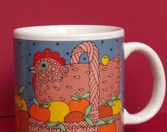Vintage Taylor Ng Classy Critter Chicken Japan Mug