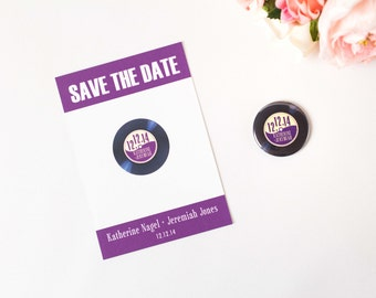 Custom Magnet, Save the Date, Vinyl Record, Wedding Invitation, Music Theme, Rock and Roll, Punk Wedding, Vintage Wedding, Retro Invitation