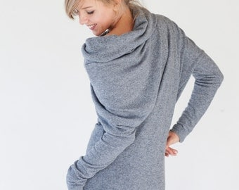 Gray dress | Sweater dress | Wool dress | LeMuse gray dress