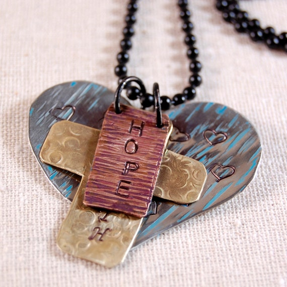 Hope faith love necklace inspiration necklace word necklace for Faith hope love jewelry