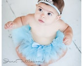 Baby Girls Birthday Tutu Dress Outfit  Baby Cinderella Costume Tutu and Tiara Crown Headband