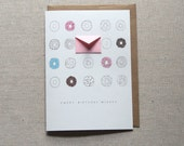 Sweet Birthday Wishes Donuts - Tiny Envelopes Card