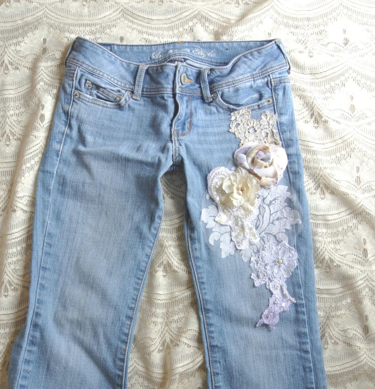 Как украсить джинсы (122 фото кружевом, стразами. - wLOOKS ) 27