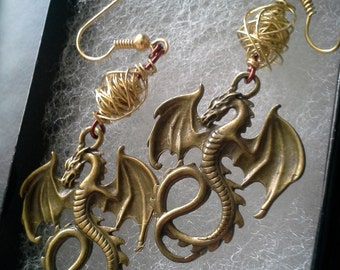 Daenerys Targaryen Dragon Egg Earrings