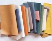 Scrap Leather Pieces - Mixed Colours - Scrap bag - 230 grams - 1/2 lb - 8 oz - remnants - off cuts