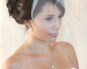 illusion Birdcage Veil  with Crystal rhiestone applique VI03