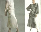 Vogue 1952 / / Designer Vintage Sewing Pattern par Tamotsu / / robe tunique jupe / / taille 8