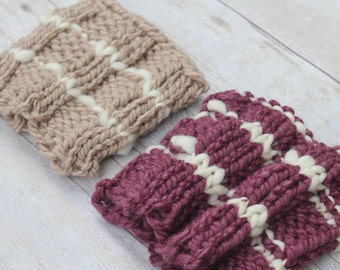 Knit Newborn Baby Hat, Chunky Photography Prop
