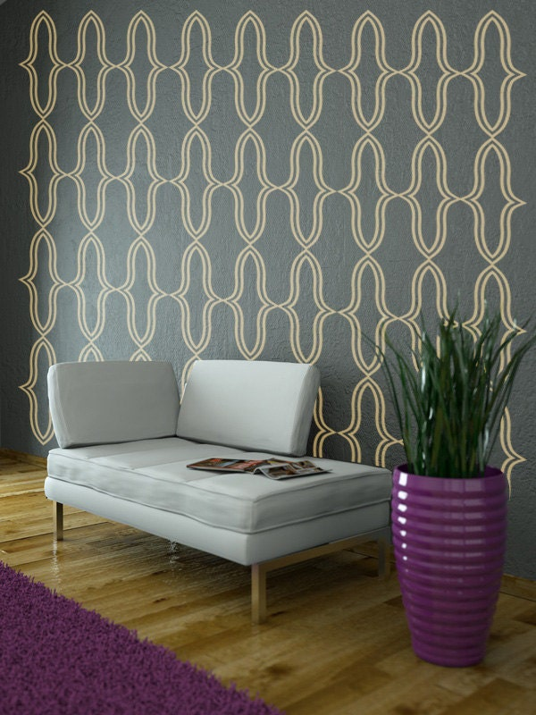 Geometric wall decal hollywood regency decor modern wall for Hollywood regency wall decor