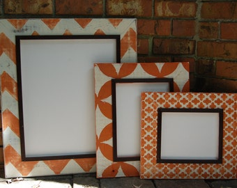 Set of three picture frames 2 8x10's and one 16x20
