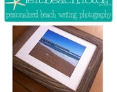 Framed Personalized Beach Writing Photograph - 5x7Photo with 8x10Frame