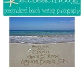 DIY Wedding -Beach Wedding Save The Date - JPG -Personalized Beach Wedding