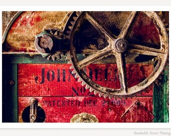 John Deere - Farm Photography - Still Life - Rustic Farmhouse Decor - Vintage Country Farm Art - Industrial Photo - Antique Farm Equipment