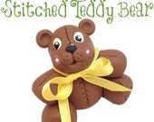 Polymer Clay Stitched Teddy Bear Figurine Tutorial - Also for Fondant, Sugar Paste, & Other Sculpting Mediums