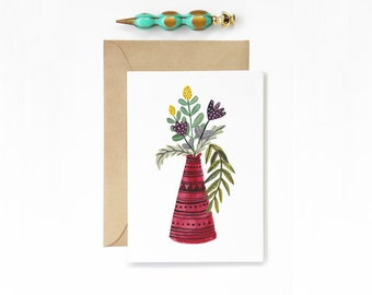 Any Occasion Red Vase Card