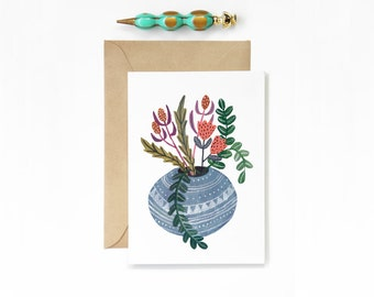 Any Occasion Blue Vase Card