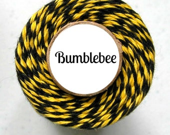 Yellow and Black Bakers Twine by Trendy Twine - Bumblebee - Use for Crafting, Packaging, Parties, Paper Crafting, Treat Packaging