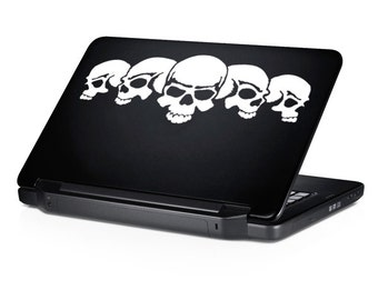 Five Skulls Decal for Laptop Sticker for Car