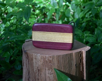 Wood Belt Buckle purple heart and mulberry  ( free shipping )